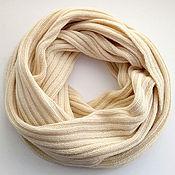 Аксессуары ручной работы. Ярмарка Мастеров - ручная работа шарф - снуд кашемир-меринос. Handmade.