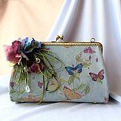 Сумки и аксессуары handmade. Livemaster - original item Handbag made of suede with clasp Summer watercolor. Handmade.