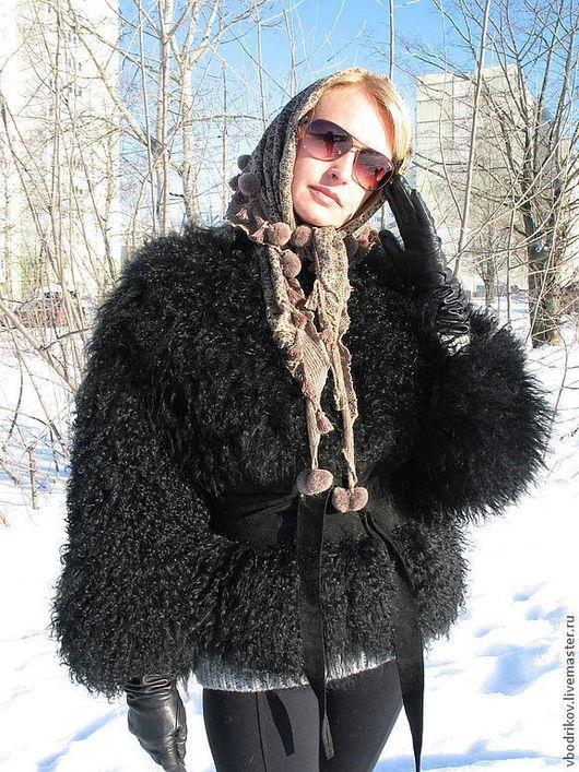 """Верхняя одежда ручной работы. Ярмарка Мастеров - ручная работа. Купить Жакет из ламы """" Черный """". Handmade. Черный"""
