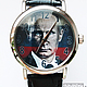 """Часы ручной работы. Ярмарка Мастеров - ручная работа. Купить Часы наручные JK """"Путин В.В."""". Handmade."""