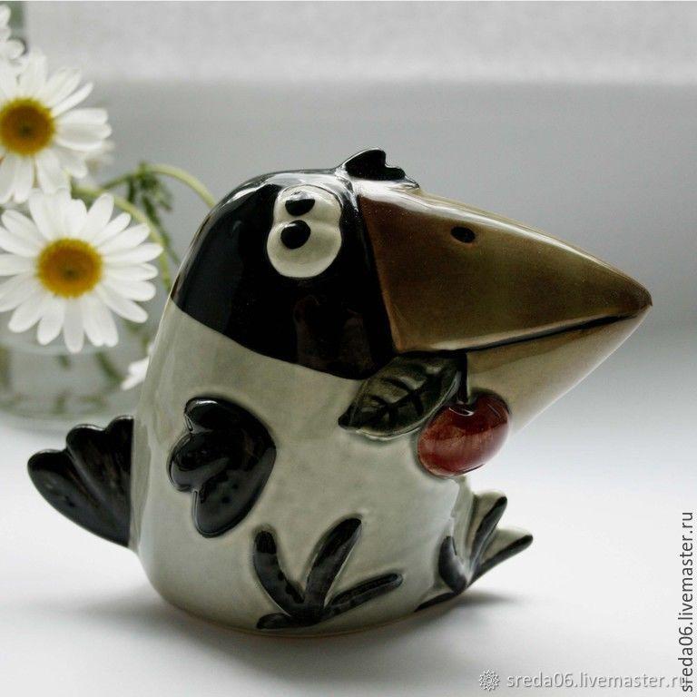 Porcelain gray crow, Figurines, Sergiev Posad,  Фото №1