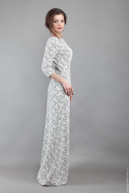 Длинное трикотажное платье в пол купить