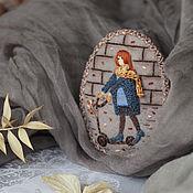 Украшения ручной работы. Ярмарка Мастеров - ручная работа Осенняя Прогулка. Брошь текстильная с вышивкой. Handmade.