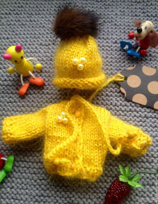 """Одежда для кукол ручной работы. Ярмарка Мастеров - ручная работа. Купить Комплект для пупса """"Солнышко"""". Одежда для кукол. Handmade. Желтый"""