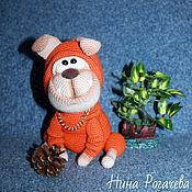 Куклы и игрушки ручной работы. Ярмарка Мастеров - ручная работа Французский бульдог Мандарин. Собака вязаная. Handmade.