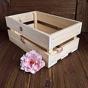 Цветы и флористика ручной работы. Ярмарка Мастеров - ручная работа Ящик деревянный # 29. Handmade.
