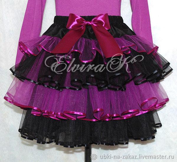 4-tier skirt made of eurofatin, Skirts, Naberezhnye Chelny,  Фото №1