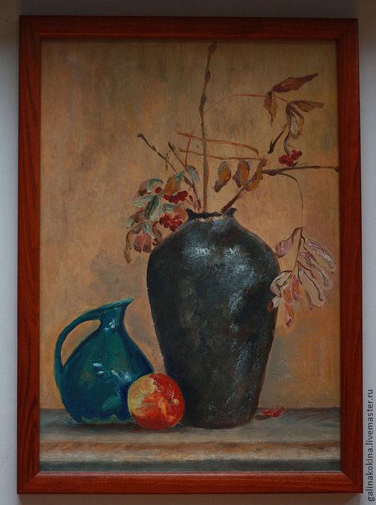 Картина В солнечных бликах,. бумага, масло, 21х30, деревянная рама со стеклом.