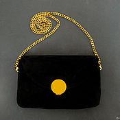 """Сумки и аксессуары handmade. Livemaster - original item """"Черный шик"""" черный замшевый клатч на цепочке. Handmade."""