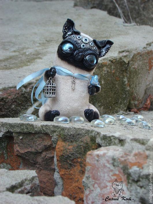 Куклы и игрушки ручной работы. Ярмарка Мастеров - ручная работа. Купить Тайский кот Серафим. Handmade. Чёрно-белый, птичка
