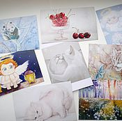Открытки handmade. Livemaster - original item Set of postcards. Handmade.