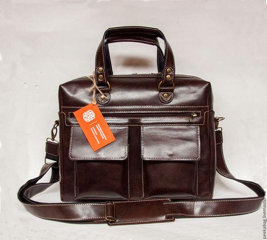 Мужская кожаная сумка. Кожаный мужской портфель. Мужской коричневый кожаный портфель. Сумка мужская для работы