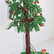 Деревья ручной работы. Ярмарка Мастеров - ручная работа Дерево из бисера. Яблоня из бисера.. Handmade.