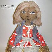 Куклы и игрушки ручной работы. Ярмарка Мастеров - ручная работа Домовенок - текстильная кукла для интерьера. Handmade.