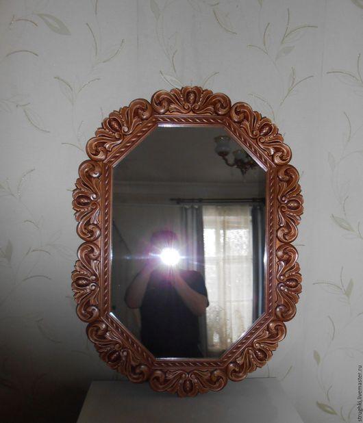 Зеркала ручной работы. Ярмарка Мастеров - ручная работа. Купить Зеркало в резной ажурной раме. Handmade. Резная рама, дерево