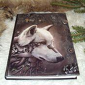 Канцелярские товары handmade. Livemaster - original item Diary Wolf steampunk A4 with initials. Handmade.
