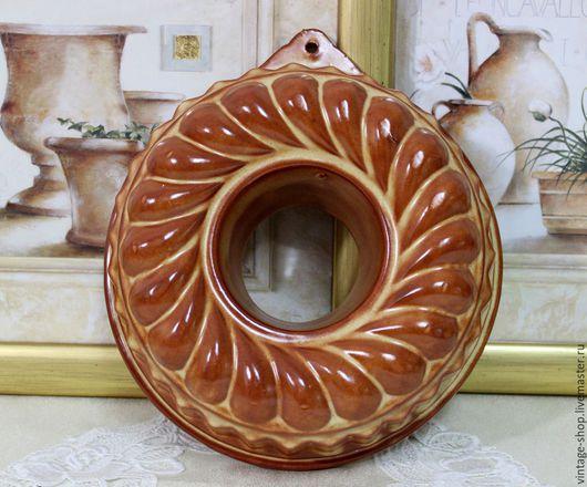 Винтажная посуда. Ярмарка Мастеров - ручная работа. Купить Керамическая большая винтажная форма для выпечки. Handmade. Рыжий, винтаж