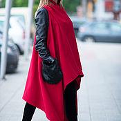Одежда handmade. Livemaster - original item Cashmere coat sleeveless Asymmetrical long cardigan. Handmade.