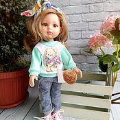Одежда для кукол ручной работы. Ярмарка Мастеров - ручная работа Свитшот+джинсы+повязка для Паола Рейна. Handmade.