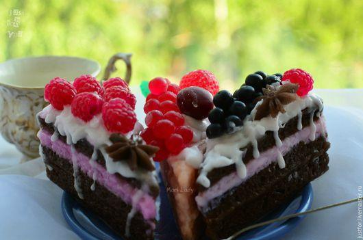 Мыло ручной работы. Ярмарка Мастеров - ручная работа. Купить Мыло Кусочек тортика. Handmade. Мыло торт, подарок