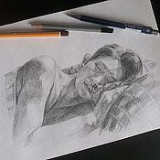 Картины ручной работы. Ярмарка Мастеров - ручная работа Портрет карандашом по фото на заказ. Формат а4.. Handmade.