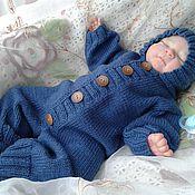 Работы для детей, ручной работы. Ярмарка Мастеров - ручная работа Комбинезон для новорожденного. Handmade.