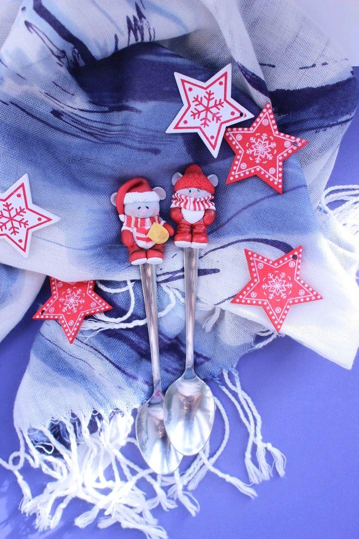 Ложки с декором из полимерной глины, Ложки, Кемерово,  Фото №1