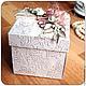 Подарки на свадьбу ручной работы. Свадебная коробочка для денежного подарка. Anna.Nieva. Интернет-магазин Ярмарка Мастеров. Свадебный подарок
