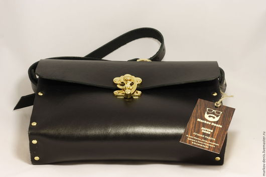 Женские сумки ручной работы. Ярмарка Мастеров - ручная работа. Купить Черное золото. Handmade. Черный, кожа, натуральное дерево