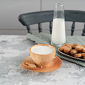 Посуда handmade. Livemaster - original item A couple of tea from the Siberian Cedar (Cup saucer) NC22. Handmade.