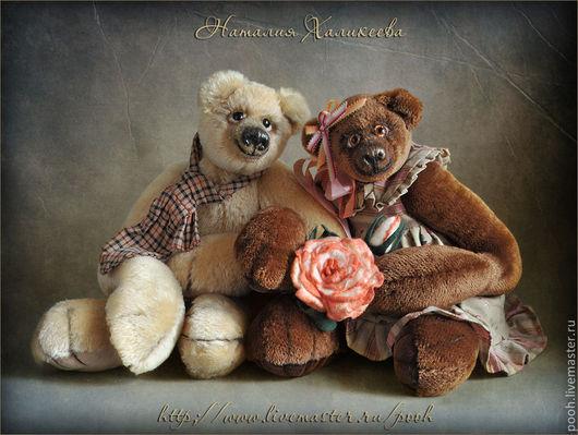 """Мишки Тедди ручной работы. Ярмарка Мастеров - ручная работа. Купить Пара коллекционных медведей """"Ромео и Джульетта"""". Handmade."""