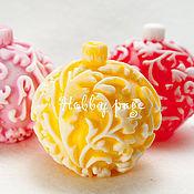 Материалы для творчества handmade. Livemaster - original item Silicone mold for soap Ball on the Christmas tree forest. Handmade.