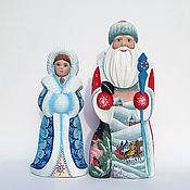 Сувениры и подарки handmade. Livemaster - original item grandfather frost and snow maiden. Handmade.