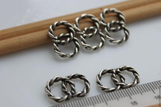 Для украшений ручной работы. Ярмарка Мастеров - ручная работа. Купить Элемент цепи крупный классный 19 х13 мм тибетское серебро. Handmade.