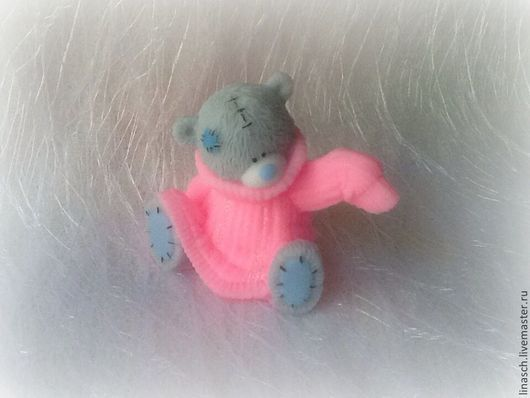 Мыло ручной работы. Ярмарка Мастеров - ручная работа. Купить Мишутка в свитере. Handmade. Розовый, мыло, мыло в подарок, подарок