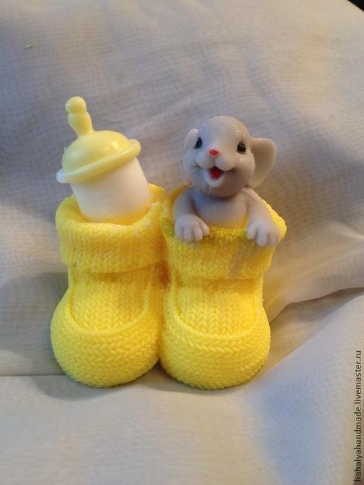 Мыло-мышка в носочке.  В составе мыльная основа производства Англия, базовые масла и ароматизаторы