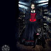 """Одежда ручной работы. Ярмарка Мастеров - ручная работа Юбка """"Темная Дама"""" с подьюбником. Handmade."""