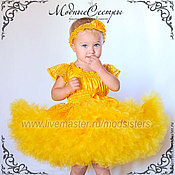 handmade. Livemaster - original item Baby dress Queen yellow Art.309. Handmade.