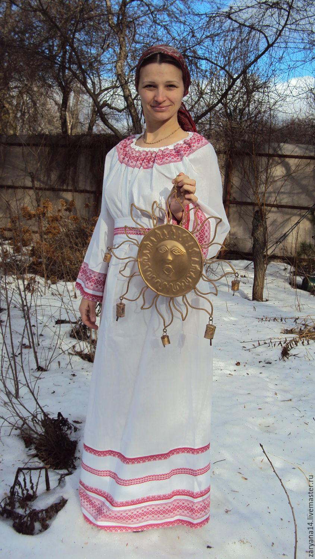 Женская славянская рубаха своими руками 98