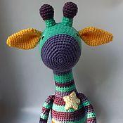 Мягкие игрушки ручной работы. Ярмарка Мастеров - ручная работа Вязаный жираф Звёздный Полосатик. Handmade.