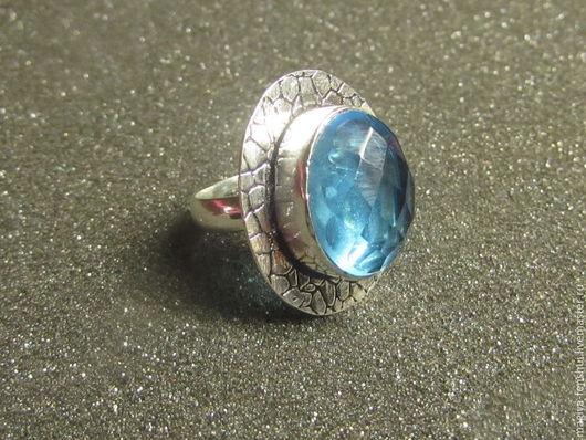 №1 диаметр кольца 17мм размер камня 12*15мм