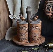 """Для дома и интерьера ручной работы. Ярмарка Мастеров - ручная работа """"Алхимия вкуса"""" Набор для специй /массив дерева/. Handmade."""