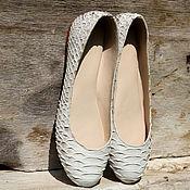 Обувь ручной работы handmade. Livemaster - original item ballet flats from Python. Handmade.