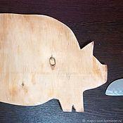 Для дома и интерьера handmade. Livemaster - original item A copy of the work Cutting Board Pig. Handmade.