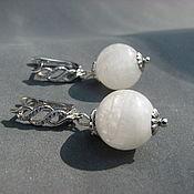 Украшения handmade. Livemaster - original item Earrings with moonstone