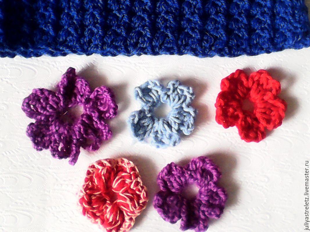 Вязанные цветы и изделия из них