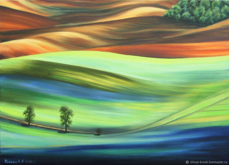 Разноцветная долина (2), Картины, Коломна,  Фото №1