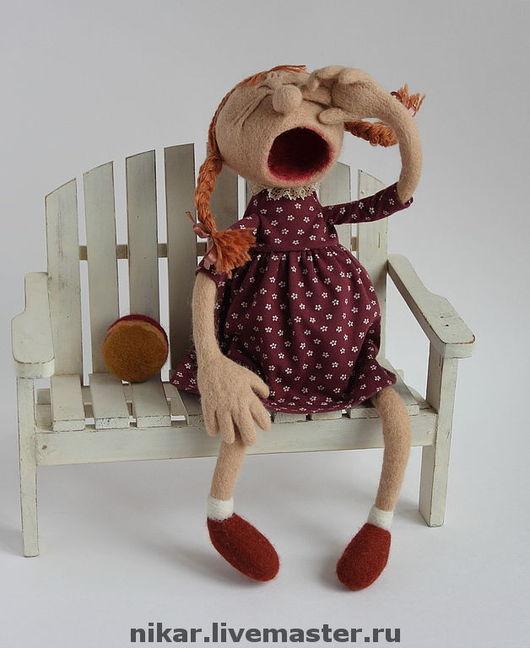 """Коллекционные куклы ручной работы. Ярмарка Мастеров - ручная работа. Купить Кукла валянная  """"Танечка"""". Handmade. Мокрое валяние"""