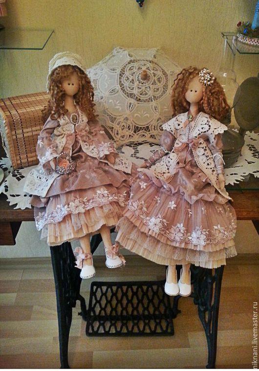 Коллекционные куклы ручной работы. Ярмарка Мастеров - ручная работа. Купить Мелани. Handmade. Бледно-розовый, Кулон ручной работы