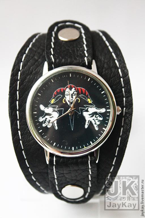 """Часы ручной работы. Ярмарка Мастеров - ручная работа. Купить Часы наручные JK """"Король и Шут"""". Handmade. часы в подарок"""